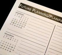 Picture of daytimer used for future planning