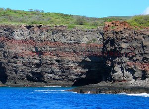 Island of Lanai rocky coastline