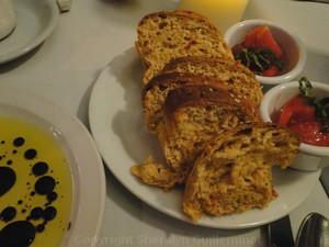 Basil Tomatoes Bread Basket