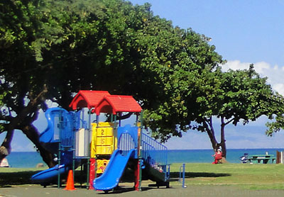 Playground at Honokawai Beach Park on Maui