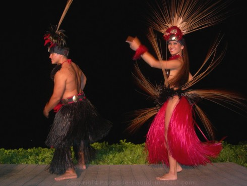 Picture of dancers at the Feast at Lele, one of the best Maui Luaus.