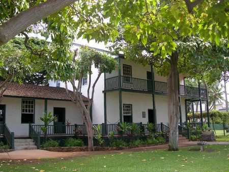 Picture of the historic Baldwin Home Museum on Front Street, Lahaina on the island of Mau, Hawaii.