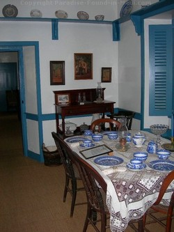 Picture of the dining room at the Baldwin Home and Museum in Lahaina, Maui, Hawaii.