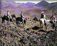 Pony Express Horseback Ride into Crater