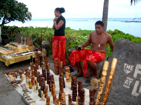 Picture of island crafts at the Feast at Lele, one of the best Maui luaus.