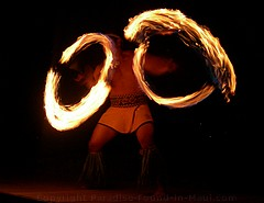 Picture of fire dancer finale at the Feast at Lele, one of the best Maui luaus.