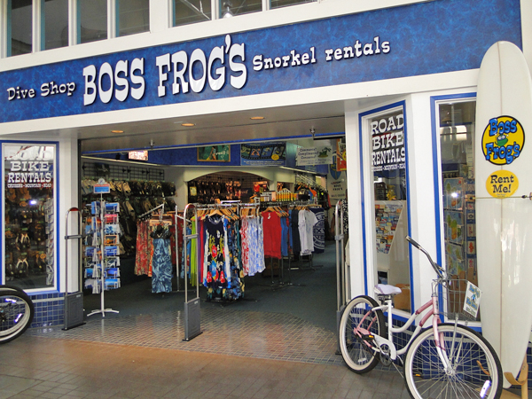 Boss Frog's dive shop on Maui