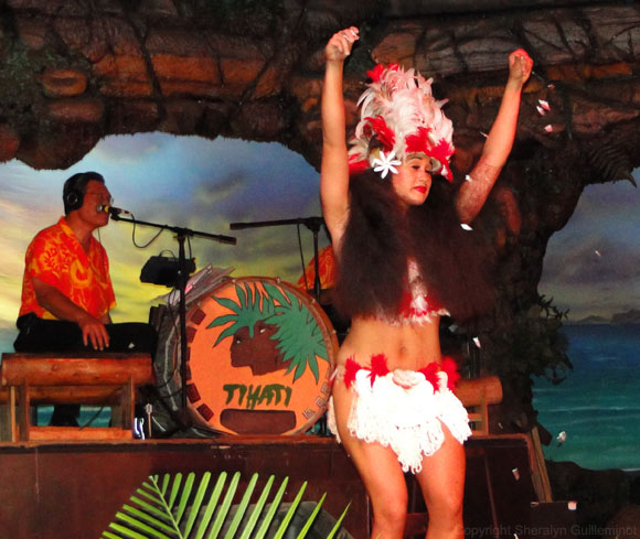 Drums of the Pacific Luau hula solo