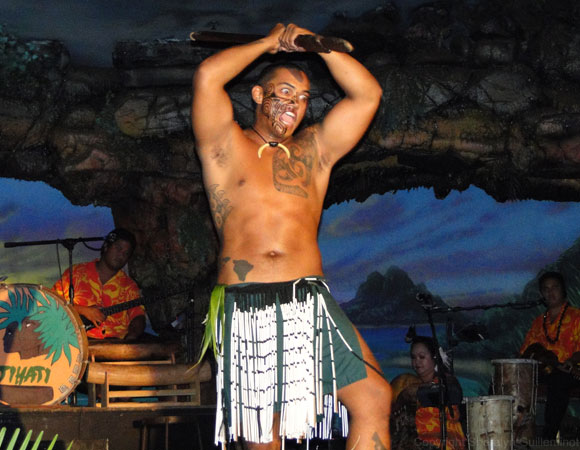 Drums of the Pacific Luau warrior dance