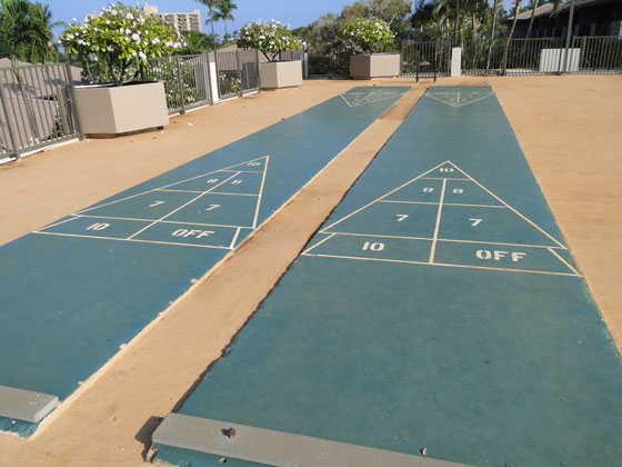 Shuffleboard at the Maui Eldorado Resort