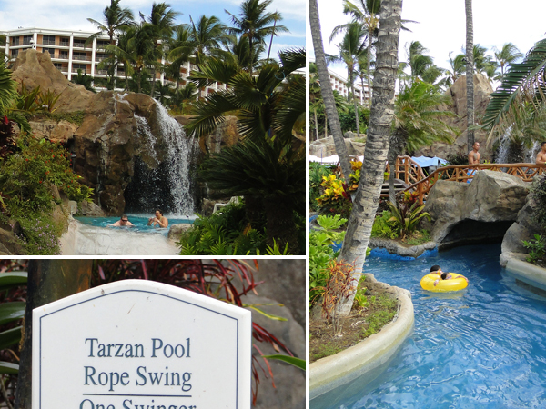 Swimming pool and lazy river Grand Wailea Resort Hotel Maui