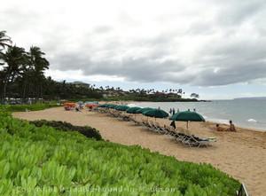 Picture of Wailea Beach in front of the Grand Wailea Resort, Maui, Hawaii.