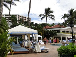 Gorgeous poolside cabanas at the Grand Wailea Resort on Maui