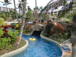 The lazy river at the Grand Wailea in Maui, Hawaii