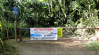 Picture of gate across path to Honolua Bay, Maui.