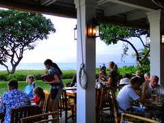 Picture of ocean view from main dining room at the Hula Grill, Maui in Whaler's Village.