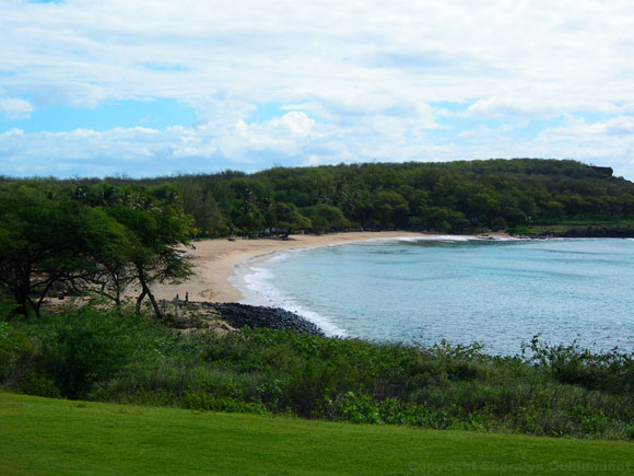 Island of Lanai Hulopo'e Bay and Beach