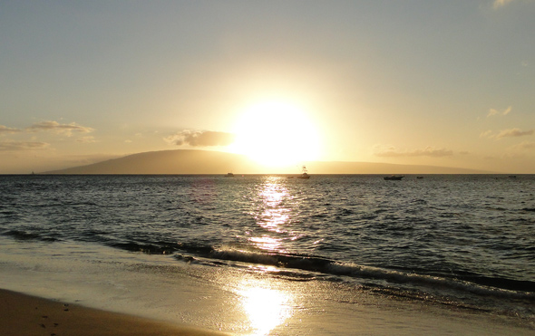 Sunset on Kaanapali Beach