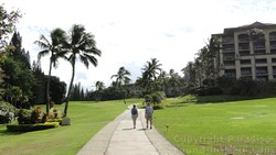 Picture of the walkway at the Ritz Carlton in Kapalua, Maui, Hawaii.