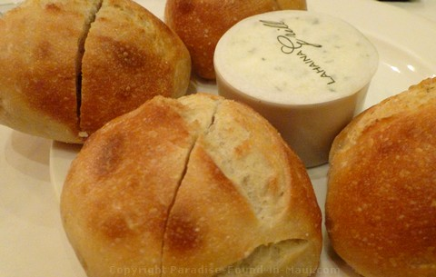 Picture of bread and garlic butter at the Lahaina Grill, one of the best restaurants in Maui.