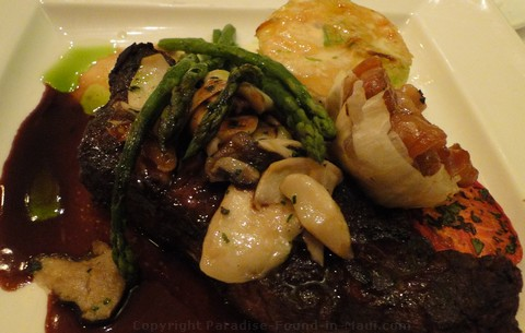 Picture of steak at the Lahaina Grill, one of the best restaurants in Maui.