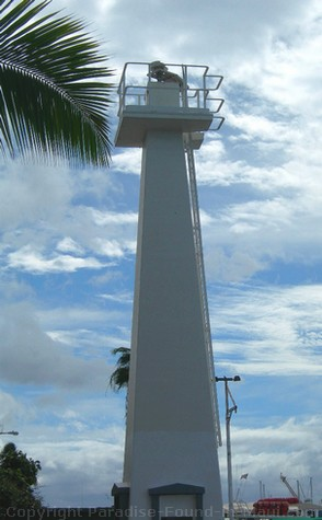 Picture of the oldest pacific lighthouse, Lahaina Harbor, Maui, Hawaii.