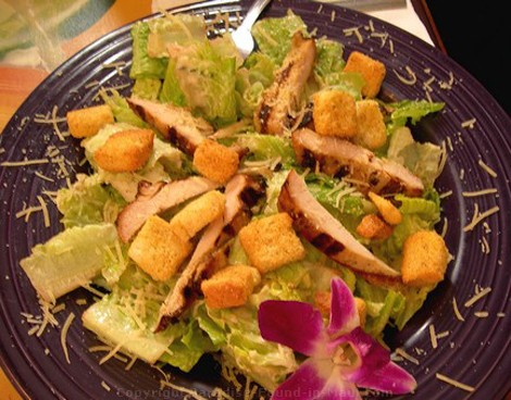 Picture of caesar salad at Moose McGillycuddys Lahaina restaurant on Front Street.