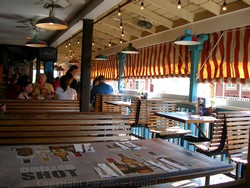 Picture of the interior of Moose McGillycuddy's Lahaina restaurant on Maui, Hawaii.
