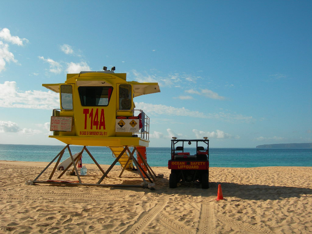 Lifeguard Station at Makena Beach