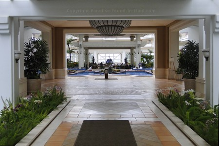 Picture of the entrance to the lobby at the Grand Wailea Resort Maui in Hawaii.