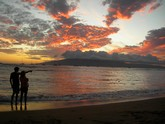 Picture of sunset in Lahaina, Maui, Hawaii.