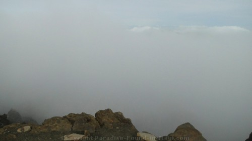 cloud cover on Haleakala Crater