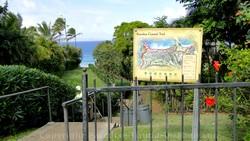 Picture of path to Oneloa Beach at Kapalua, Maui, Hawaii.