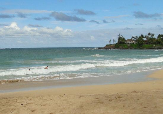 Boogie Boarding at Paia Beach Maui