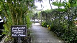 Poolenalena beach access at the Makena Surf Resort