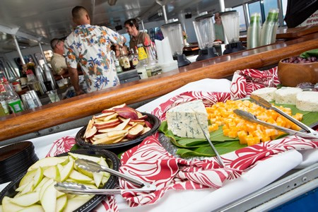 Appetizers and snacks on Pride of Maui cruise