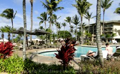 Picture of the pool area at Kapalua's Ritz Carlton, Maui.