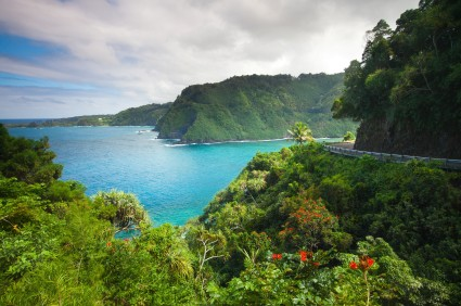 Drive your car rental in Maui, Hawaii along the Road to Hana