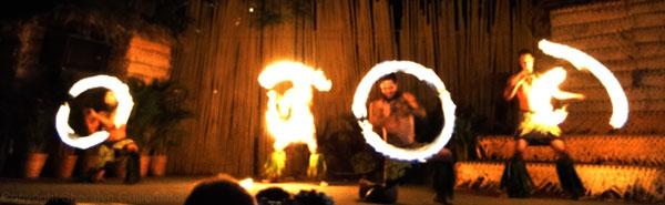 Fire Dancers at Maui's Royal Lahaina Luau