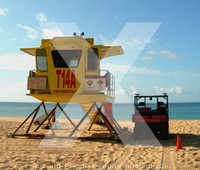 Picture of lifeguard tower, Maui, Hawaii