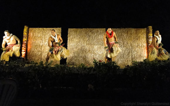 The men dance at the Sheraton Luau