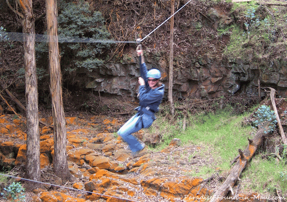 Ziplining on Haleakala with Skyline Eco Adventures