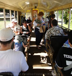 Picture of passengers on the Sugar Cane Train on Maui