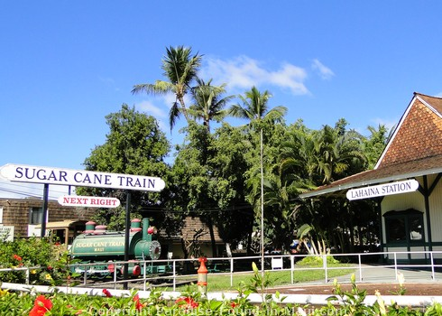 Picture of the Sugar Cane Train's Lahaina Station on Maui, Hawaii