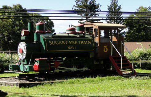 Picture of the Sugar Cane Train at Lahaina Station, Maui, Hawaii