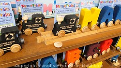 Picture of souvenirs at the Sugar Cane Train Lahaina Station on Maui.