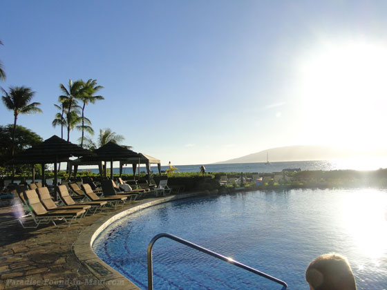 Ocean view at Sheraton Maui Resort pool