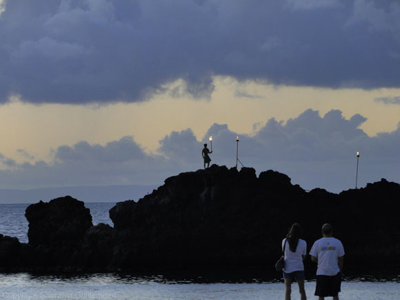 Torch Lighting Ceremony at Black Rock on Maui