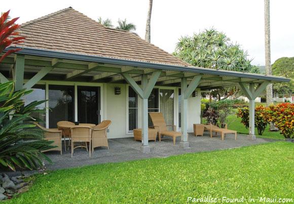 Garden View Suite Patio at Travaasa Hana