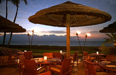 Picture of the Tropical Restaurant at the Westin Maui Resort and Spa on Kaanapali Beach in Maui, Hawaii.